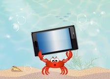 Smartphone underwater Royalty Free Stock Photography
