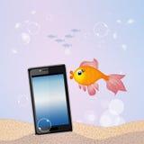 Smartphone underwater Royalty Free Stock Photo