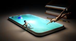 Smartphone-Unterhaltungskonzept Stockfotografie