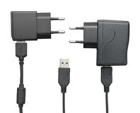 Smartphone USB charger Stock Image