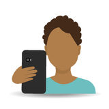 Smartphone and user Royalty Free Stock Photo
