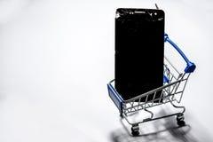 Smartphone uszkadza? i potrzeba naprawia? kt?ra wyt?acza wzory smartphone zdjęcie royalty free