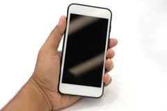Smartphone van de handholding of mobiele telefoon royalty-vrije stock afbeeldingen