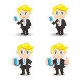 Smartphone van het zakenmangebruik Stock Afbeeldingen