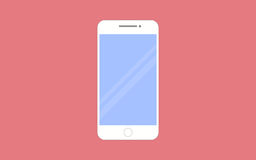 Smartphone vector illustration in flat design style. Stock Images