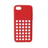 Smartphone vermelho da tampa no branco Front View ilustração 3D Foto de Stock Royalty Free