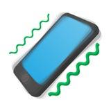 Smartphone vibrating cartoon icon Stock Image