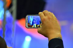 Smartphone video on concert Royalty Free Stock Images