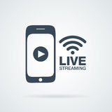 Smartphone video line streaming stock illustration