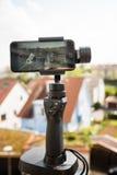 Smartphone video panorama setup Stock Images