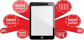 Smartphone - vijftig percentenkorting royalty-vrije illustratie