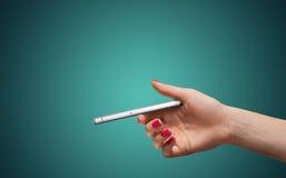 Smartphone w ręce Obraz Stock
