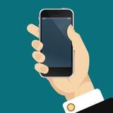 Smartphone w ręce Zdjęcia Royalty Free