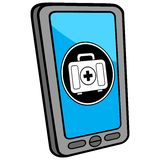 Smartphone Walk In Clinic Royalty Free Stock Images