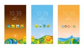Smartphone wallpapers la raccolta, illustrazione di vettore Fotografie Stock Libere da Diritti