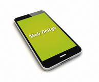 Smartphone web designrender Royalty Free Stock Image