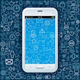Smartphone on Web Pattern Royalty Free Stock Photo