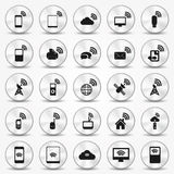 Smartphone Wi-fi Icon Hotspot Buttons. Illustrated with Illustrator CS and EPS10. Vector with transparency Stock Photography