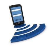 Smartphone wifi access Stock Photos
