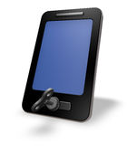 Smartphone with wind up key Royalty Free Stock Photo