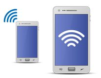 Smartphone and wireless technology Stock Photography