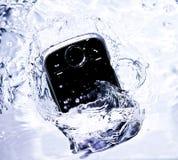 smartphone woda Fotografia Stock