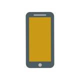 Smartphone yellow screen technology gadget. Illustration eps 10 vector illustration