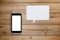 Smartphone z mowa bąblem Obrazy Royalty Free