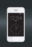 Smartphone z zegarem Zdjęcia Royalty Free