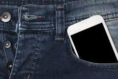 Smartphone in zakjeans Royalty-vrije Stock Afbeelding