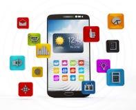 Smartphone zastosowania Fotografia Stock