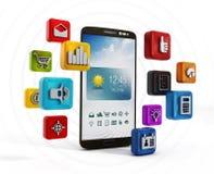 Smartphone zastosowania Zdjęcie Royalty Free