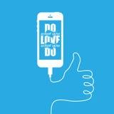 Smartphonee avec le guide filaire Images libres de droits