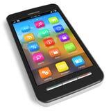 smartphonepekskärm Fotografering för Bildbyråer