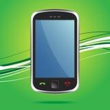 smartphonepekskärmradio Fotografering för Bildbyråer