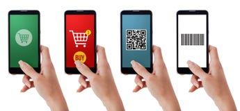 Smartphones και αγορές apps στοκ φωτογραφίες