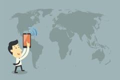 Smartphones και δικτύωση διανυσματική απεικόνιση