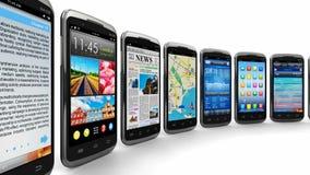 Smartphones και κινητές εφαρμογές απόθεμα βίντεο
