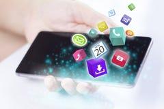 Smartphones με τα εικονίδια εφαρμογής Στοκ Φωτογραφία