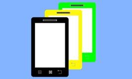 smartphones τρία Στοκ Εικόνα