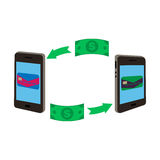 smartphones δύο Στοκ εικόνες με δικαίωμα ελεύθερης χρήσης