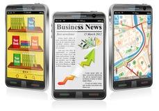 smartphones применений различные иллюстрация штока