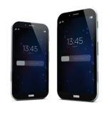 2 smartphones размеров Стоковая Фотография
