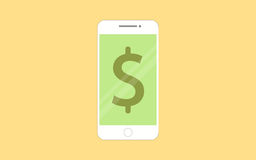 Smartphones с передвижным креня app на экране Бесплатная Иллюстрация
