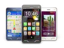 Smartphones Fotografía de archivo libre de regalías