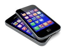 Smartphones Royalty-vrije Stock Afbeeldingen