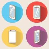 Smartphones ajustados Fotografia de Stock