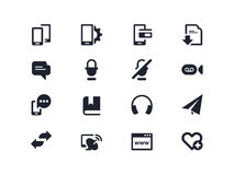 Smartphones and communication icons. Lyra series Royalty Free Stock Photos