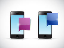 Smartphones communication illustration design Royalty Free Stock Images
