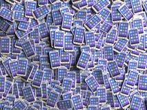 Smartphones con el interfaz coloreado Imagenes de archivo